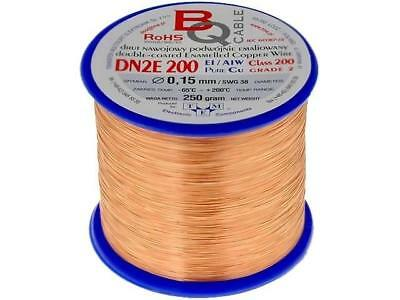 DN2E0.15/0.25 Coil wire double coated enamelled 0.15mm 0,25kg BQ CABLE