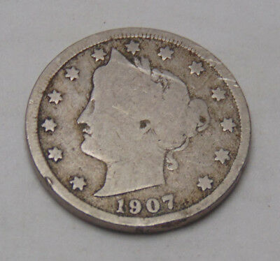 1907 Liberty V Nickel (FREE SHIPPING OFFER) E