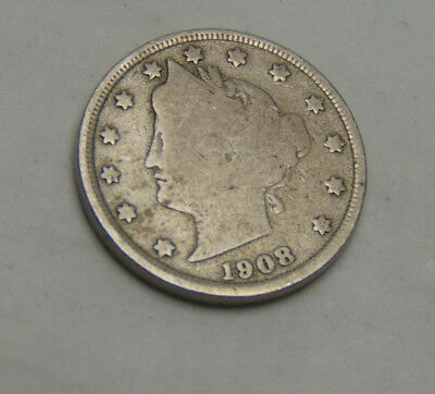 1908 Liberty V Nickel (FREE SHIPPING OFFER) F