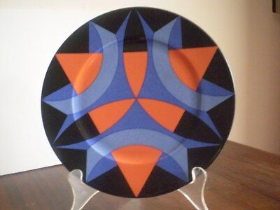 """Villeroy & Boch Plate """"kaleidoscope No.3""""  Made In Luxembourg. Mid Century Fab!!"""