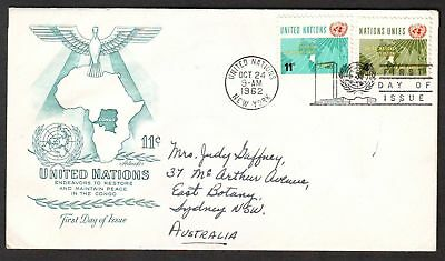 United Nations  1962  FDC, Operations in the Congo.