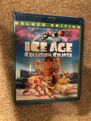 Ice Age Collision Course 3D Bluray 1 Disc Set ( No Digital HD)