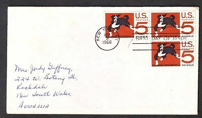 United States  1966  FDC, Humane Treatment of Animals.