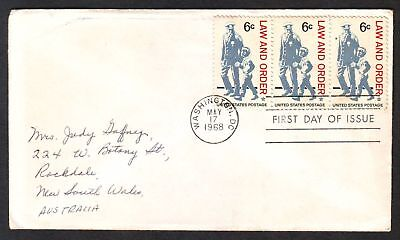United States  1968  FDC, Law and Order.