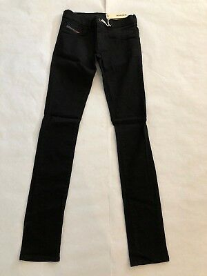 Diesel Livier 0R800 Stretch Woman Jeans Black NWT Authentic Retail 168 USD