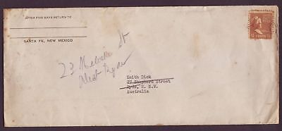 United States  Cover sent to Australia.