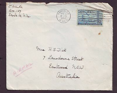 United States  1952  Cover sent to Australia.