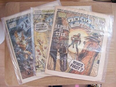 3 Comics 2000AD Featuring Judge Dredd No 383 385 387 1984 Excellent Condition