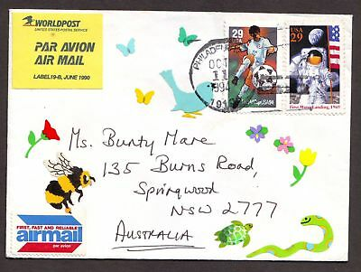 United States  1994  Cover sent to Australia.