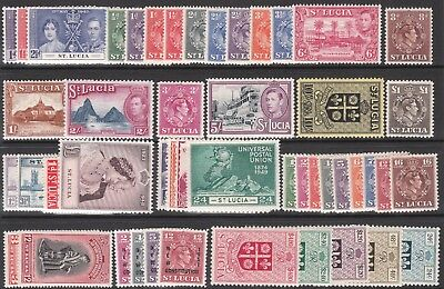 ST LUCIA MINT GV1 STAMP SETS incl 1937 1938 1946 1948 1949 1951