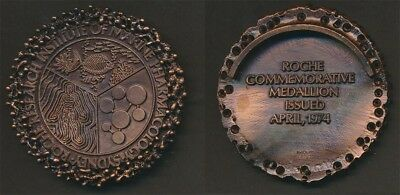 Australia: 1974 Roche Research Institute of Marine Pharmacology Large 65mm Medal