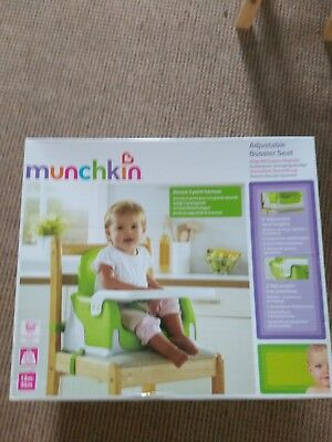 Munchkin adjustable booster seat vgc only used once - collection ipswich