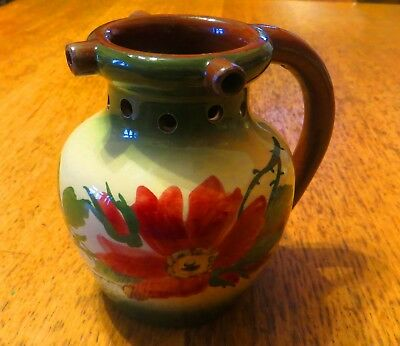 Very Rare Beautiful Longpark Torquay Pottery Rose Pattern Puzzle Jug