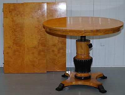 Rare Height Adjustable Extending Biedermeier Dining Table Swedish Victorian