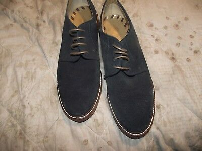 base london blue suede shoes size 10 uk euro 44 very good cond