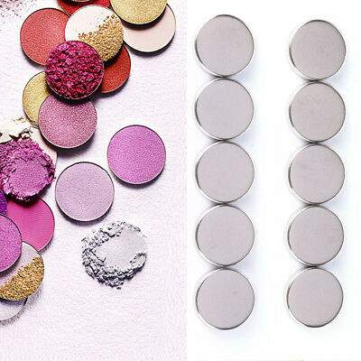 10/30X Empty Round 15MM Tin Pans for Powder Eyeshadow Responsive to Magnets Pip