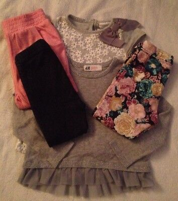 Baby Girls Next/h&m Jeggings/jumper Age 12-18 Months