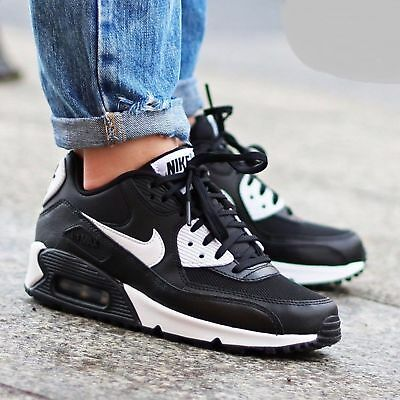 WMNS Nike Air Max 90 Essential Black/White-Metallic Silver 616730-023 All Sizes