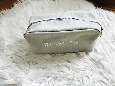 4f4a0dc6cc Barneys New York glowing Blue Denim Makeup Bag Cosmetic Travel Case Pouch  New