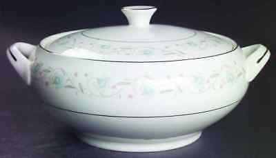 Fine China Of Japan ENGLISH GARDEN (PLATINUM TRIM) Round Vegetable Bowl 122307