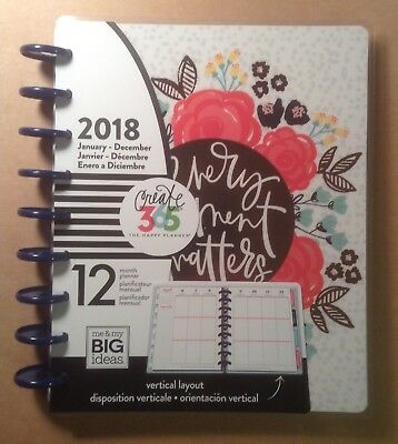 """NEW 2018 CLASSIC Happy Planner """"SUGAR & SPICE"""" 12 Month VERTICAL Planner"""