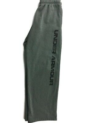 Under Armour Gray sweat pant boy's YLG Youth Large with logo and brand in black