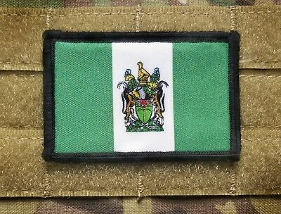 Rhodesia Rhodesian Flag 2x3 Tactical Hook Military Morale Patch Selous Scouts