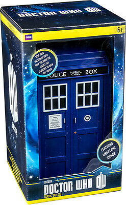 """DOCTOR WHO - 10"""" Tardis Tap Safe Featuring Light & Sound FX (Zeon Ltd.) #NEW"""