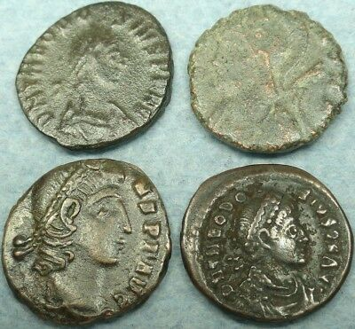 Lot Of 4 Small Roman Bronze Coins