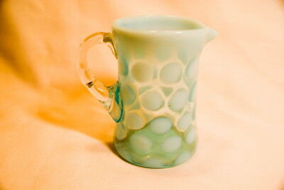 Vintage 1920S Spotted Milk Blue Fenton Glass Pitcher