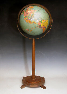 Early 60's Globe with Wooden Stand