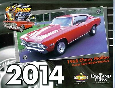 Woodward Dream Cruise Hotrod Calendar 2013 Logo, Sold For 2014,Near Mint!