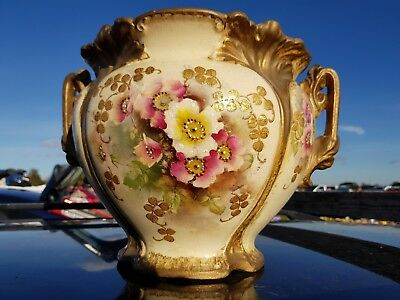 Very nice old antique planter with pretty colours