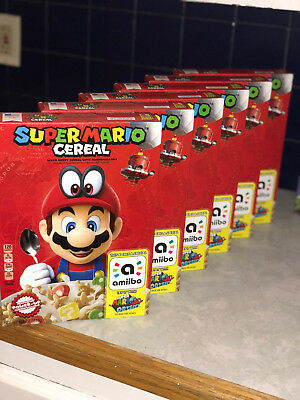 Super Mario Cereal Limited Edition Nintendo Switch Amiibo Odyssey Free Shipping!