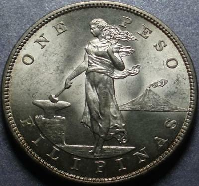 "1903-S UNITED STATES PHILIPPINES Crown Size SILVER ""ONE PESO"" San Francisco MINT"