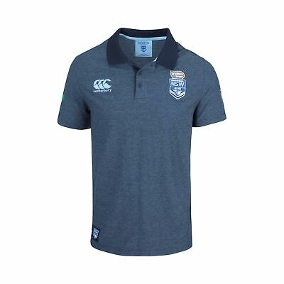 New South Wales Blues CCC 2018 Origin Framework Yarn Dye Polo Shirt Size S-4XL!