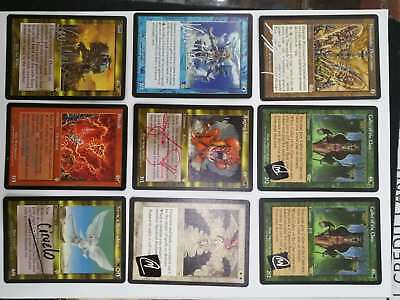 Mtg 9X  Mtg Signed Cards - Light Play