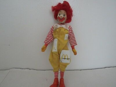 Vintage 1976 Remco Ronald McDonald Doll 7.5 Inch Tall Good Condition Moving Head