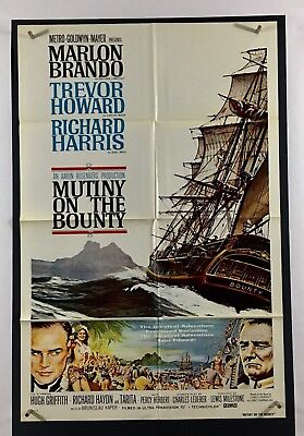 MUTINY ON BOUNTY Movie Poster (VeryFine) One Sheet 1962 Style B 2975
