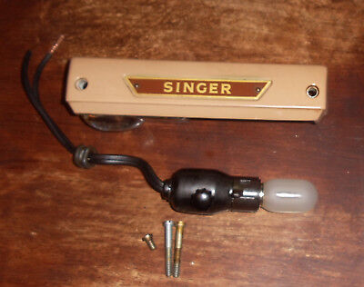 Used Singer Sewing Machine 401A Light, Bulb & Lens Cover Assembly