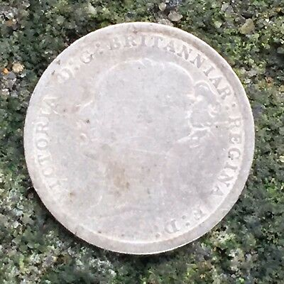 UK / Great Britain 3d Threepence 1884, Victoria - Silver