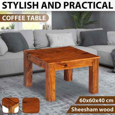 vidaXL Sheesham Solid Wood Coffee Side Table 60x60x40cm Living Room Furniture