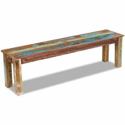 vidaXL Solid Recycled Timber Bench Seating Side Table 160cm Furniture Vintage
