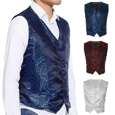 Quality Swirl Wedding Formal Waistcoat Mens Waistcoat Chest Available 38-43""