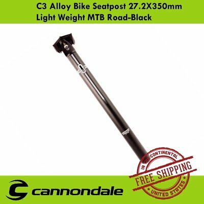 Cannondale C3 Bike Seatpost 27.2x350mm Offset for MTB Bike Road Cycle Black