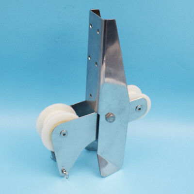 """For Chain 8KG Hinged Self-Launching Bow Anchor Roller 12.9"""" Stainless Steel 316"""