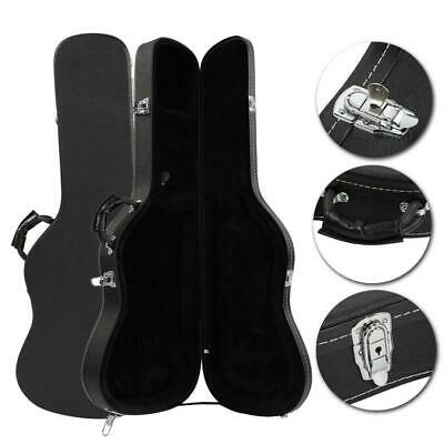 New Artificial Leather Straight Flange ST Electric Guitar Hard Shell Case Black