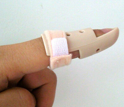 Plastic Mallet Finger Splint DIP Joint Support Brace Protection Fracture Pain