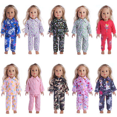 Pajamas Nightgown Clothes For 18 inch Our Generation American Girl Doll Boy Doll