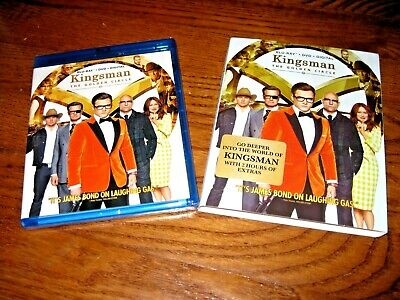 Kingsman: The Golden Circle; Blu-ray+ DVD + Digital HD UV] New Sealed +Fast Ship